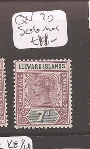 Leeward Islands Queen Victoria 7d  SG 6 MOG (1cdz)