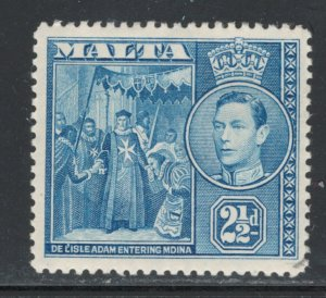 Malta 1938 King George VI 2 1/2p Scott # 196 MH