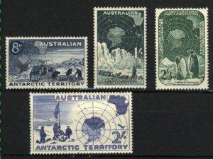 Australian Antarctic Territory #2-5   Mint NH VF 1957-59 PD