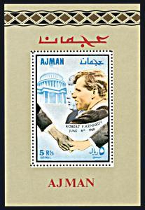 Ajman Michel Block 48, MNH, Robert and John Kennedy souvenir sheet