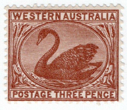 (I.B) Australia Postal : Western Australia 3d (SG 87)
