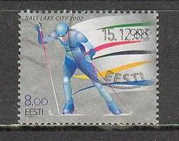 ESTONIA Sc# 432 USED FVF Winter Olympics Salt Lake City