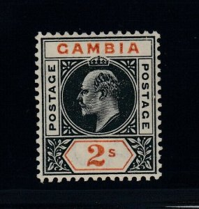 Gambia, SG 54 var, MHR Slotted Frame variety