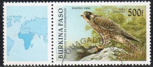 Burkina Faso 1087 - Cto - 500fr Peregrines Falcon (1996) (cv $1.20)