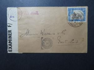 Aden 1945 Censor Cover to Egypt (Stamp Torn / Not Cover) - Z10861