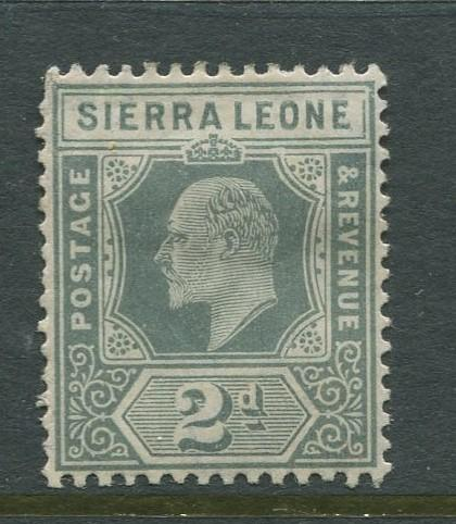 Sierra Leone - Scott80 - KEVII Definitive - 1904 - MH- Single 2d Stamp