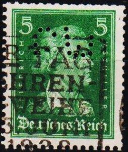 Germany.. 1926 5pf(Perfin GW) S.G.402 Fine Used
