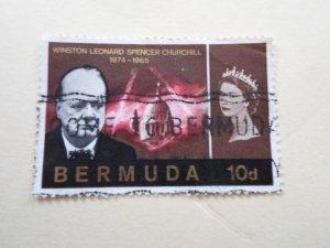 BERMUDA STAMP. USED  NO HINGE MARKS.( 14 )