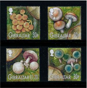Gibraltar Wholesale Mushrooms 10 Sets of 4 Stamps #950-3 @ 72% Face