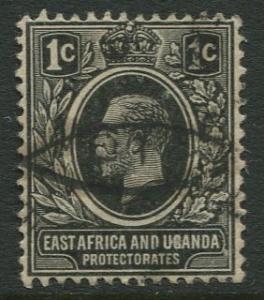 East Africa & Uganda - Scott 40 - KGV Definitive -1912 -Used -Single 1c Stamp