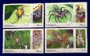 Malaysia Scott # 1274-7 Arachnid Stamp Set MNH