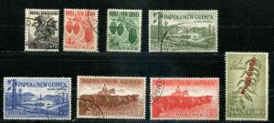 Papua & New Guinea SC# 139-46 SG# 18-24 People Produce & Views set used
