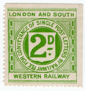 (I.B) London & South Western Railway : Letter Stamp 2d