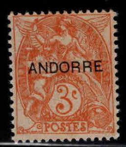 Andorre (French) Andorra Scott 3 Mint No Gum