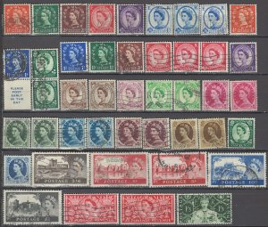 COLLECTION LOT OF #1075 GREAT BRITAIN 44 STAMPS 1952+ CV+$42 UNCHECKED