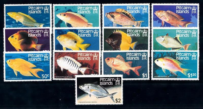 [66056] Pitcairn Islands 1984 Marine Life Fish 13 Values MLH