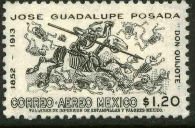 MEXICO C278 50th Anniv death of J. Guadalupe Posada MNH