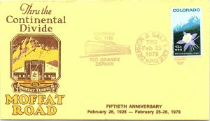 1978 Denver & Salt Lake R.P.O. Railway Post Office + Cachet #157