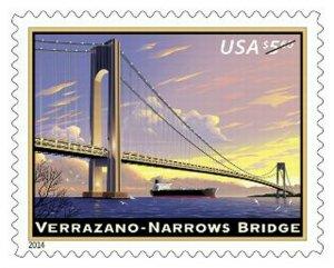 Verrazano-Narrows Bridge $5.60 Priority Mail Postage Stamp Scott 4872