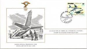 Zaire, Worldwide First Day Cover, Aviation