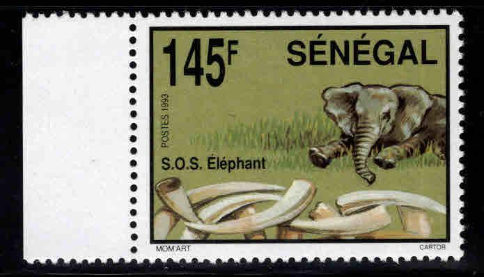 Senegal Scott 1082 MNH** Elephant stamp