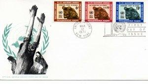 UN FDC NY #216-217, Geneva #16 Combo (7927)
