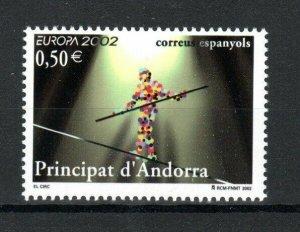 Andorra (Spanish) 2002 50c  Europa. Circus MNH