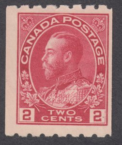 Canada - #124  King George V Admiral Coil Perf 8 - MH