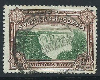Southern Rhodesia SG 29 used light reverse crease