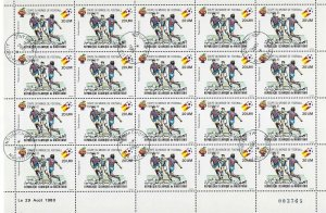 Mauritania Scott C199 - 1982 World Cup of Soccer in Spain, sheet of 20, VF-CTO