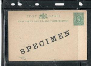 EAST AFRICA * UGANDA  COVER (P2908B) KE 1/2A PSC UNUSED  SPECIMEN