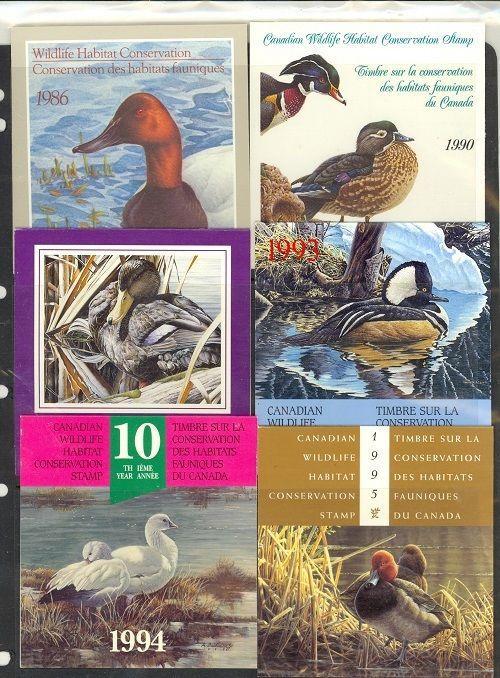 Canada - 6 diff Wildlife stamps (Catalog Value $117.50)