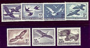 AUSTRIA #C54-60 Complete Airmail set og, NH, Scott $332.60