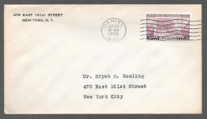 USA 783: 3c Map of Oregon Territory, First Day Cover, addressed