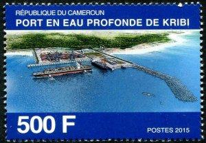 HERRICKSTAMP CAMEROUN Sc.# 983 Kribi Deep Sea Harbor Mint NH