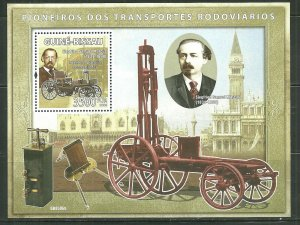 Guinea-Bissau MNH S/S Transportation Pioneers