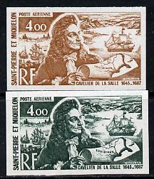 St Pierre & Miquelon 1972 Revaluation 4f La Salle, Ma...