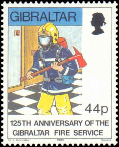 Gibralter #566-569, Complete Set(4), 1990, Firefighting Related, Never Hinged