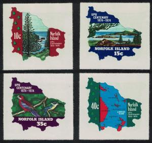 Norfolk Birds Centenary of UPU Imperf Self-adhesive 4v SG#158-161 SC#181-184