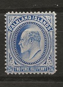 Falkland Is 25 SG 46 MH F/VF 1904 SCV $35.00 (jr)