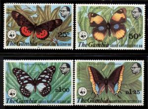 Gambia Scott 404-407 Abuko Nature Reserve Butterflies $102.50