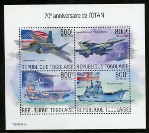 TOGO 2019  70th ANNIVERSARY OF NATO  SHEET MINT NH