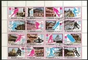 AJMAN MANAMA OLYMPIC  stamp collection see  3 scans