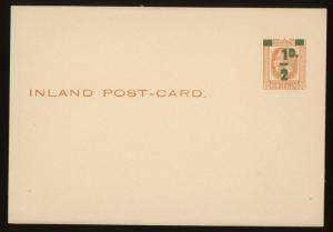 1923 New Zealand Postal Card Postal Stationery H&G #26a