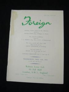 ROBSON LOWE AUCTION CATALOGUE 1955 FOREIGN