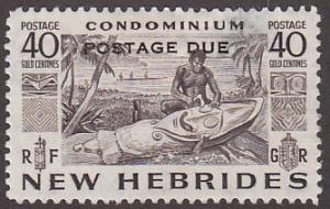 New Hebrides Br J14 Unused 1953 Postage Due O/P