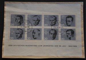 DYNAMITE Stamps: Germany Scott #883-890 (SvSht) – USED