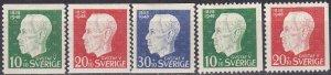 Sweden #B37-41 F-VF Unused CV $3.55 (Z5311)