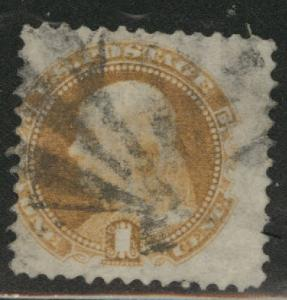 USA Scott 112 used 1869 stamp,cork canceled