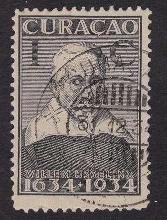 Netherlands Antilles  #110  1934 used  Curacao  300 yrs  1C